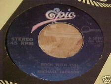 MICHAEL JACKSON 45 RPM ROCK WITH YOU EPIC 1979 STEREO