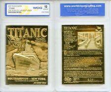 1912 TITANIC *Worlds Largest Ship,* 23 Karat GOLD Card * Graded GEM -MINT 10,NEW