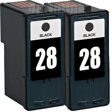 *2 Pack Remanufactured 28(18C1528) Black Ink For Lexmark X2500 X2530 X2550 X5070