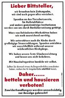 Schild Spassschild 20 x 30 cm Lieber Bittsteller betteln und hausieren 308971