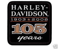 HARLEY DAVIDSON 105TH ANNIVERSARY  PATCH