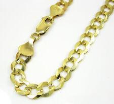 "9 Grams 7mm 8"" Mens 10k Yellow Gold Franco Curb Cuban Miami Bracelet"