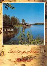 Greetings from Finland Cabin House Lake Lac Landscape