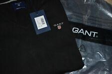 GANT Herren Pullover Gr. L  V-Neck Feinstrick Sweater V-Ausschnitt schwarz