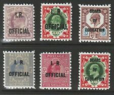 Pair Of 2 Kevii Board Of Education & 4 Inland Revenue Stamps (Forgeries)