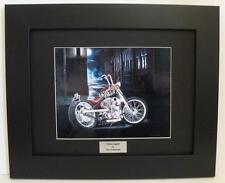 Indian Larry Chain Bike Signed Ltd Edition Framed Motorcycle Art Print by John G