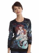 Disney The Little Mermaid Ariel Part of Your World Velour Top Juniors Medium New