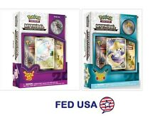 Pokemon Mythical Jirachi + Mew Mythical Collection Pin Box Generations Packs