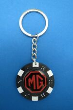 MG LOGO POKER CHIP DICE KEYRING KEY RING CHAIN #041 RED