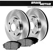 Ceramic Brake Pads For 2005 Subaru Outback Front Rear eLine Plain Brake Rotors