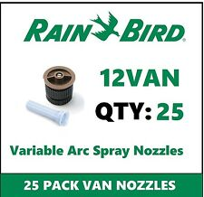 25 Rain Bird 12VAN 12' 0-360° Adjustable Variable Arc Spray Sprinkler Nozzles