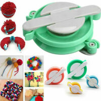 4 Size Pom pom Maker Manual Weaver Needle Knitting Crafts Bobble DIY Tool Kit