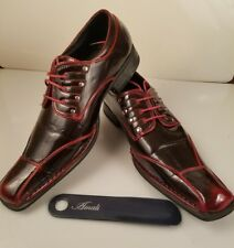 Amali Men's Red Oxford Dress Shoes 3843-005 US Sizes  9.5