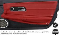 Rouge foncé en cuir véritable 2X porte complète Carte Trim Covers for CHRYSLER CROSSFIRE 03-08