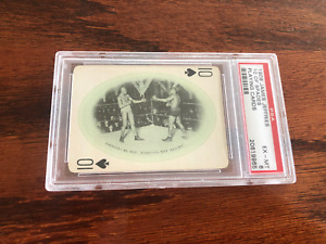VERY RARE JACK JOHNSON 1909 BOXING CARD PSA 6