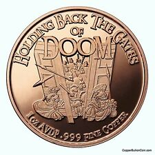 Osborne Mint Flagship 1 Oz 999 Fine Copper Round Holding Back the Gates of Doom