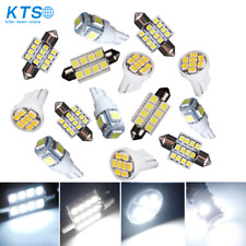 14X White LED Light Interior Package Kit for T10 & 31mm Map Dome + License Plate