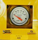 Auto Meter 4391 Ultra Lite Voltmeter Volt Meter Gauge 2 116 8 - 18 Volts