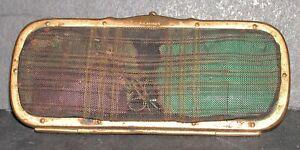"Antique German Etui Needle Case Brass Mesh Purse Style G.K. Brevete W 5.5 x 2.5"""