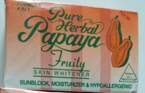 1p/2p/3p/6p x Pure Herbal Papaya Lightening Moisturising Beauty 4 in 1 Soap