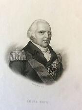 Louis XVIII impression Gilquin et Dupain  publié par Dufour Mulat circa 1859