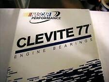"""8 CLEVITE RACING H ROD BEARINGS 396 427 454 502 CHEVY BBC .001"""" CB743HD-1 DOWEL"""