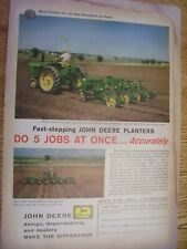 Vintage John Deere Advertising Sheet -# 494 & 495 Planters -1961
