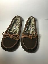 Minnetonka Soft Sided Brown Rubber Sole Moccasin/Slipper/Shoes Womans Sz 7