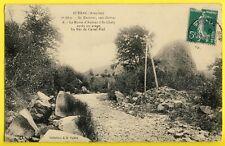 cpa RARE 12 - La Route d'AUBRAC à St CHÉLY après un ORAGE ROC de CASTEL VIEL