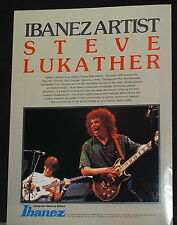 1983 Steve Lukather of Toto plays an Ibanez Artist guitar photo print Ad