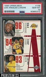 1996 Upper Deck #148 Los Angeles Lakers w/ Shaquille O'Neal HOF PSA 10