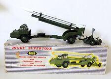 Dinky Supertoys 666 Missile Erector with Corporal Missile & Platform (1959)