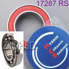 17287 2RS Si3N4 Hybrid Ceramic Ball Bearing Rubber 17 x 28 x 7mm