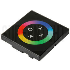 Touch Panel LED RGB Controller Rainbow Color Ring DC 12V-24V 12A/3 Channels
