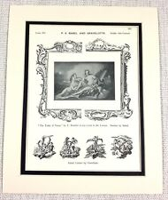 1903 Antique Print Louvre Palace France Boucher Painting The Toilet of Venus Art