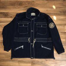 Vintage KILPING Hooded Rain Parka Jacket XXL RARE Navy Black USA Outdoors Zip Up