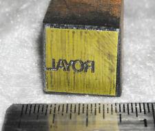Vintage ROYAL Corporation Logo Letterpress Printers Block ENGRAVED Metal Stamp
