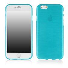 Coque souple en gel effet métallisé pour iPhone 6 de 4,7 pouces coloris bleu