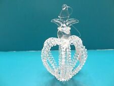 NEW Demdaco Silvestri Hand Blown Glass Ornament Clear Glass ELEGANT Christmas