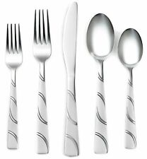 Corelle flatware darcy sand stainless 20PC set 18/0 original box