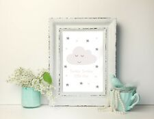 Personalised Name Picture A4 Print Christening Gift Nursery Newborn Baby
