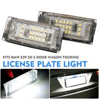Pair 18 LED Number License Plate Light Lamp For BMW E46 4D 4 Door Sedan Error No