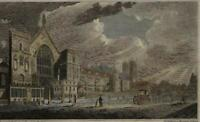 London England Westminster Hall c.1810 engraved urban view print hand color