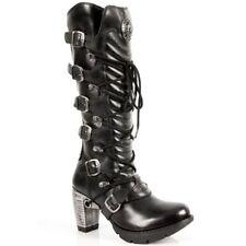 Botas de mujer New Rock en piel color principal negro