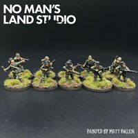 Pro Painted 15mm WW2 Late War German Squad/Section - Chain Of Command