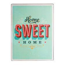 Targa da Parete in Metallo 30x40 Home Sweet Casa Insegna Quadro Cartello Vintage