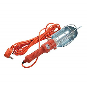 KINGAVON GARAGE MAINS PORTABLE INSPECTION WORK LAMP LIGHT + 5M LEAD WITH HOOK
