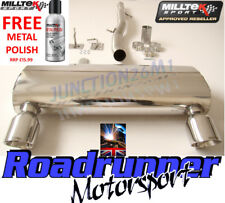AUDI TT EXHAUST MILLTEK MK1 QUATTRO 1.8 TURBO CAT BACK NON-RES GT100 SSXAU237