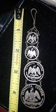 Silver coin pocket watch fob