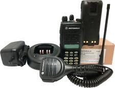 Motorola Ht1250 Uhf Two Way Radio Full Keypad Mdc 1200 Quik-Call Ii 403-470 Mhz